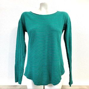 J. Crew | Teal and Blue Blouse | Medium